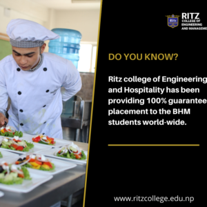 DO YOU KNOW Ritz college of Engineering and Hospitality has been providing 100% guaranteed placement to the BHM students world-wide.(1)